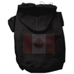 Mirage Pet Products Canadian Flag Hoodies Black XXL (18)