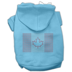 Mirage Pet Products Canadian Flag Hoodies Baby Blue XXXL(20)