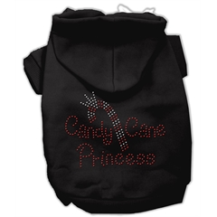 Mirage Pet Products Candy Cane Princess Hoodies Black M (12)