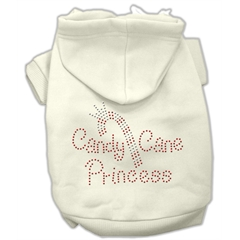 Mirage Pet Products Candy Cane Princess Hoodies Cream M (12)