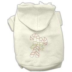 Mirage Pet Products Candy Cane Hoodies Cream S (10)