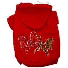 Mirage Pet Products Christmas Bows Rhinestone Hoodie Red XL (16)