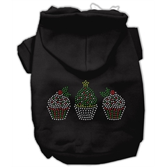 Mirage Pet Products Christmas Cupcakes Rhinestone Hoodie Black L (14)