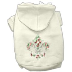 Mirage Pet Products Holiday Fleur de lis Hoodies Cream S (10)