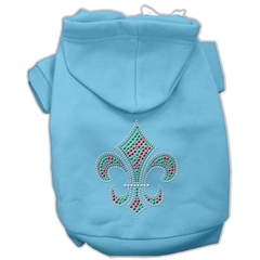 Mirage Pet Products Holiday Fleur de lis Hoodies Baby Blue M (12)
