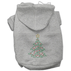 Mirage Pet Products Christmas Tree Hoodie Grey M (12)