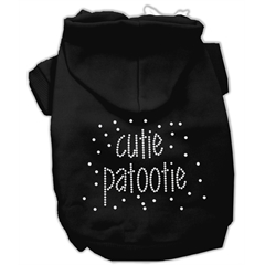 Mirage Pet Products Cutie Patootie Rhinestone Hoodies Black XXL (18)