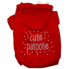 Mirage Pet Products Cutie Patootie Rhinestone Hoodies Red L (14)