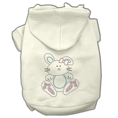Mirage Pet Products Bunny Rhinestone Hoodies Cream XXXL(20)