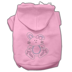 Mirage Pet Products Bunny Rhinestone Hoodies Pink M (12)