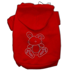 Mirage Pet Products Bunny Rhinestone Hoodies Red S (10)