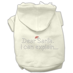 Mirage Pet Products Dear Santa I Can Explain Hoodies Cream XXL (18)