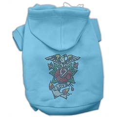 Mirage Pet Products Eagle Rose Nailhead Hoodies Baby Blue XL (16)