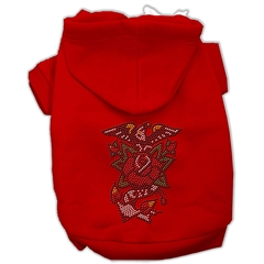 Mirage Pet Products Eagle Rose Nailhead Hoodies Red XS (8)