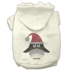 Mirage Pet Products Santa Penguin Rhinestone Hoodies Cream XL (16)
