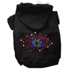 Mirage Pet Products Fireworks Rhinestone Hoodie Black XS (8)
