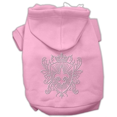 Mirage Pet Products Rhinestone Fleur De Lis Shield Hoodies Pink M (12)