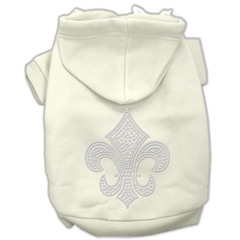 Mirage Pet Products Fleur de lis Hoodies Cream XS (8)
