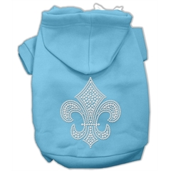 Mirage Pet Products Fleur de lis Hoodies Baby Blue M (12)
