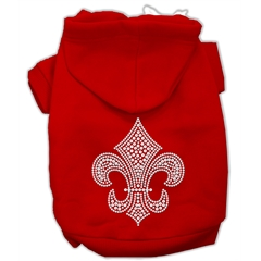 Mirage Pet Products Fleur de lis Hoodies Red M (12)