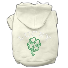 Mirage Pet Products Four Leaf Clover Outline Hoodies Cream XL (16)