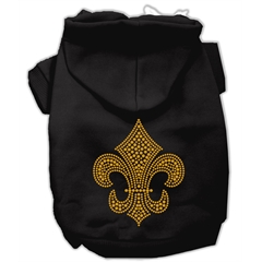 Mirage Pet Products Gold Fleur De Lis Hoodie Black L (14)