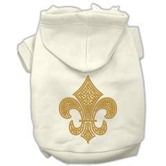 Mirage Pet Products Gold Fleur De Lis Hoodie Cream XXL (18)
