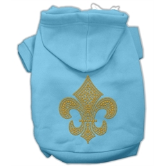 Mirage Pet Products Gold Fleur De Lis Hoodie Baby Blue XL (16)