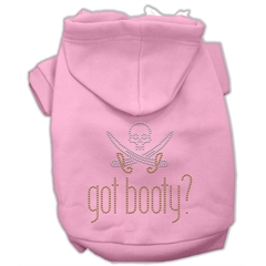 Mirage Pet Products Got Booty Rhinestone Hoodies Pink XL (16)