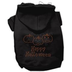 Mirage Pet Products Happy Halloween Rhinestone Hoodies Black XL (16)