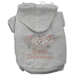 Mirage Pet Products Happy Halloween Rhinestone Hoodies Grey S (10)