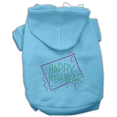 Mirage Pet Products Happy New Year Rhinestone Hoodies Baby Blue XXL (18)