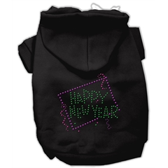 Mirage Pet Products Happy New Year Rhinestone Hoodies Black XXL (18)