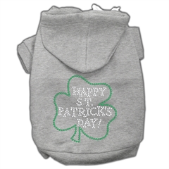 Mirage Pet Products Happy St. Patrick's Day Hoodies Grey L (14)