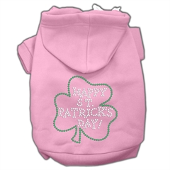 Mirage Pet Products Happy St. Patrick's Day Hoodies Pink XXXL(20)