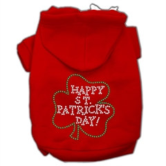 Mirage Pet Products Happy St. Patrick's Day Hoodies Red XS (8)