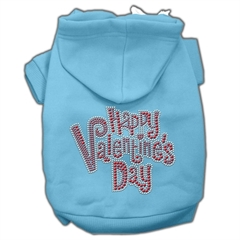 Mirage Pet Products Happy Valentines Day Rhinestone Hoodies Baby Blue M (12)