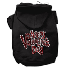 Mirage Pet Products Happy Valentines Day Rhinestone Hoodies Black XXL (18)