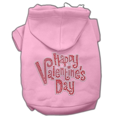 Mirage Pet Products Happy Valentines Day Rhinestone Hoodies Pink L (14)