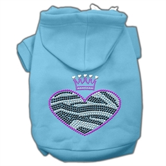 Mirage Pet Products Zebra Heart Rhinestone Hoodies Baby Blue M (12)