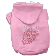 Mirage Pet Products I'm Too Sexy Rhinestone Hoodies Pink XXL (18)