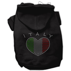 Mirage Pet Products Italian Rhinestone Hoodies Black XL (16)
