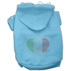 Mirage Pet Products Italian Rhinestone Hoodies Baby Blue XXL (18)