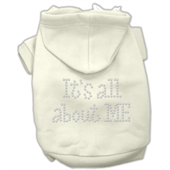 Mirage Pet Products It's All About Me Rhinestone Hoodies Cream XL (16)