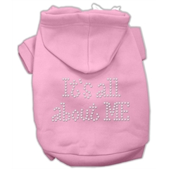 Mirage Pet Products It's All About Me Rhinestone Hoodies Pink XXL (18)