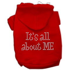 Mirage Pet Products It's All About Me Rhinestone Hoodies Red XL (16)