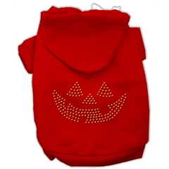 Mirage Pet Products Jack O' Lantern Rhinestone Hoodies Red XXXL(20)