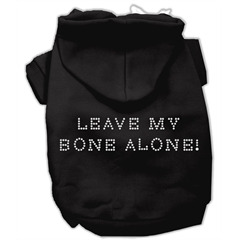 Mirage Pet Products Leave My Bone Alone! Hoodies Black XS (8)