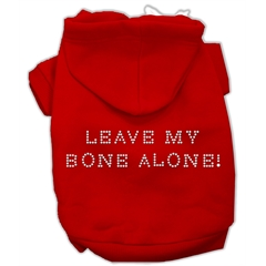 Mirage Pet Products Leave My Bone Alone! Hoodies Red XS (8)