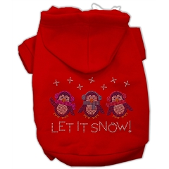 Mirage Pet Products Let it Snow Penguins Rhinestone Hoodie Red XXXL(20)